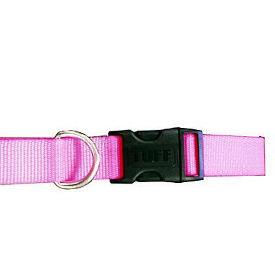 Nylon Dog Collar Adjustable 1-inch Neon Pink