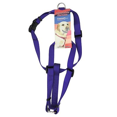 Adjustable Large Dog Harness 1-inch Purple Nylon