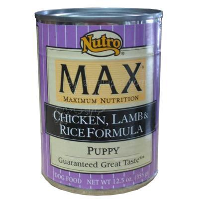 Nutro Max Puppy Chicken, Lamb and Rice Can Lg Each