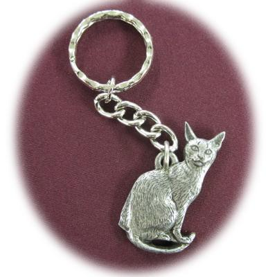 Pewter Key Chain I Love My Abyssinian