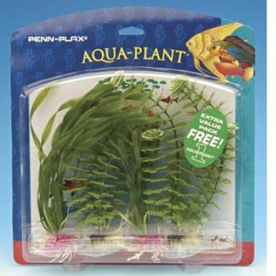 Family Pack Green Variety Plastic Aquarium Plant