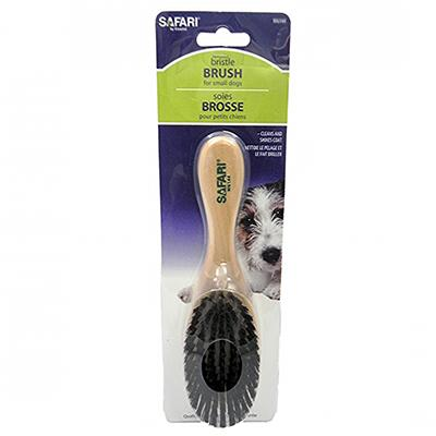 Bristle Dog Grooming Brush Small with Wood Handle