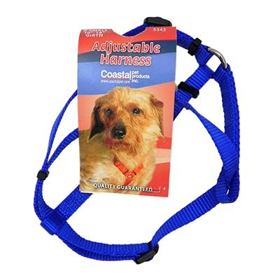 Adjustable XSmall Dog Harness 3/8-inch Blue Nylon
