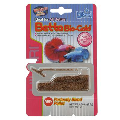 Hikari betta bio gold fish food aquar food betta at for Beta fish food