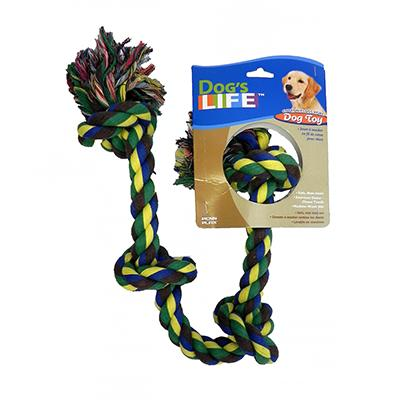 Rope Tug 4-Knot Color Large Dog Toy