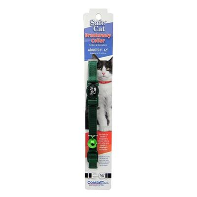 Nylon Cat Collar Breakaway Hunter Green