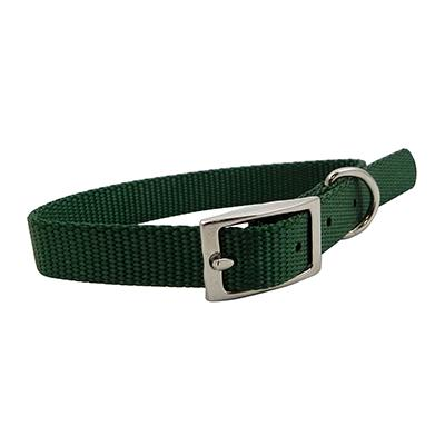 Nylon Dog Collar 5/8 inch Green 14-inch