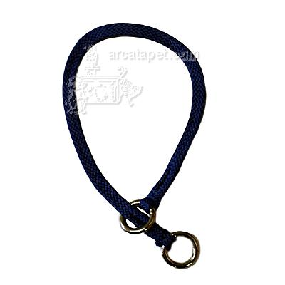 Nylon Dog Choke Collar 12 inch Blue