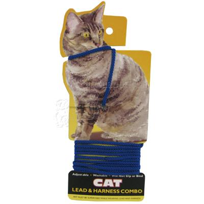 Cat Lead and Harness Blue