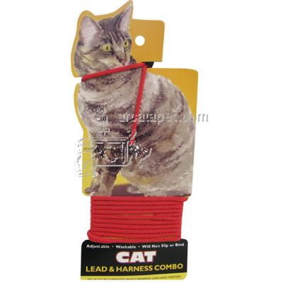 Cat Lead and Harness Red