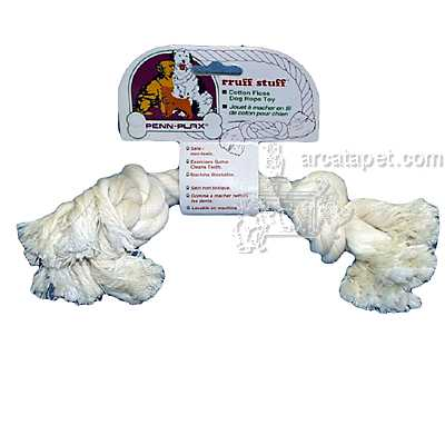 Rope Bone Large White Dog Toy
