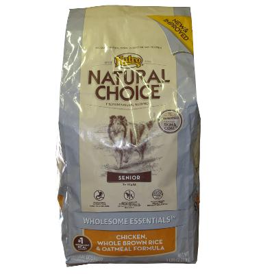 Nutro Natural Choice Chicken Senior Dry Dog Food 5lb