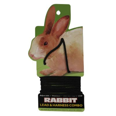 Rabbit Lead/Harness Black