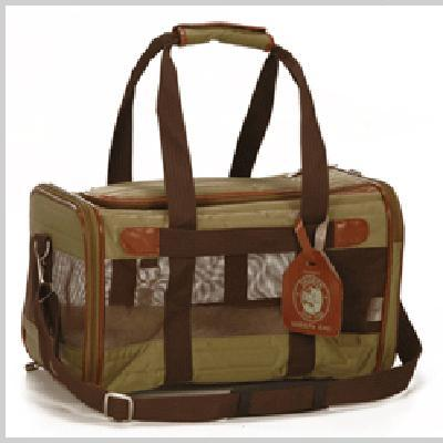 Fashion    Carrier on Deluxe Sherpa Bag Medium Green Pet Carrier   Cat Carriers Sherpa