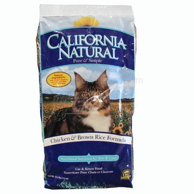 California Natural Dry Chicken and Rice Cat Food  15 lb