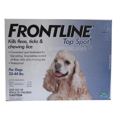 Frontline Dog 23-44 pound 3-pack Flea and Tick Treatment