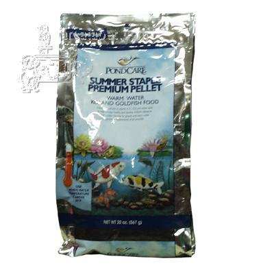Aquarium Products Pond Food Summer Staple 20 ounce