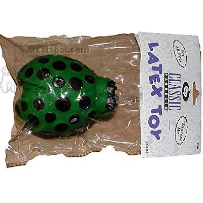 Latex Cucumber Beetle Dog Toy with Squeaker