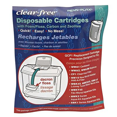 Penn Plax Clear Free Filter Cartridges 2 Pack