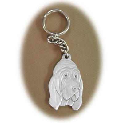 Pewter Key Chain I Love My Blood Hound