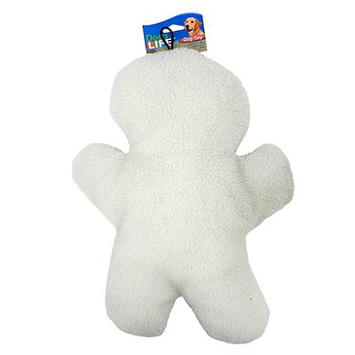 Fleece Man 12 inch Dog Toy with Squeaker