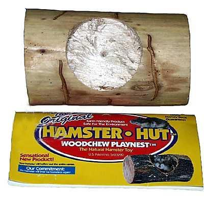 Hamster Hut Woodchew Playnest Log for Chewing