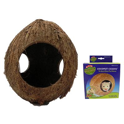 Penn Plax Coconut Cabana Small Animal Play Nest