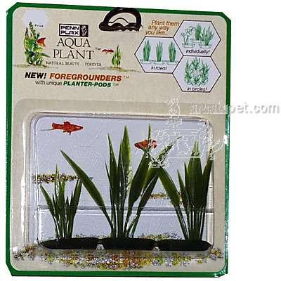 Amazon Sword 3 pod Plastic Aquarium Plant