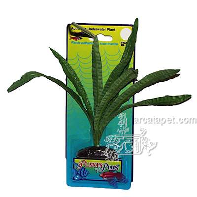 Crispus Sword Medium Plastic Aquarium Plant