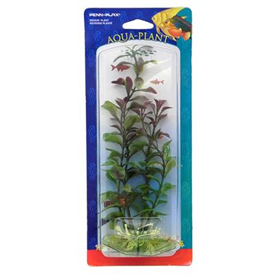 Ludwigia Red Medium Plastic Aquarium Plant
