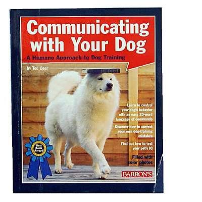 Communicate With Your Dog Training Book