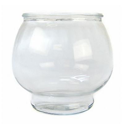 Anchor hocking glass fish bowl footed 1 2 gal aquaria for 2 gallon fish bowl