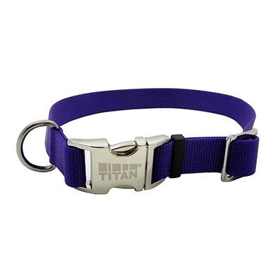 Titan Medium Purple Nylon Adjustable Dog Collar