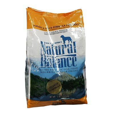 Natural Balance Potato & Duck Allergy Dog Food 5 lb