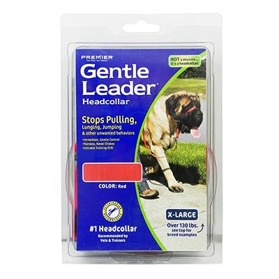 Premier Gentle Leader Dog Head Collar XLarge Red