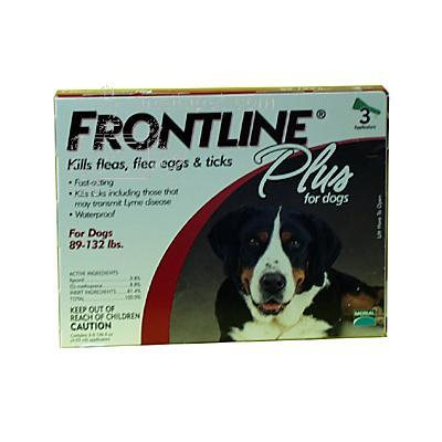 Frontline PLUS Dog 89-132 lb 3-pack Flea and Tick Treatment