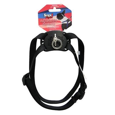Nylon Dog Harness Size Right Medium Black