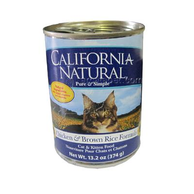 California Natural Chicken/Brown Rice Dog Food Single Can