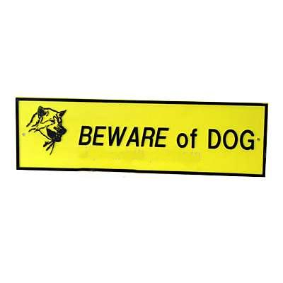 Beware of Dog Sign Small Plastic