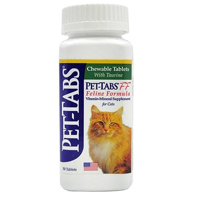 Pet-Tabs Cat Vitamin Mineral Supplement 50 tablet