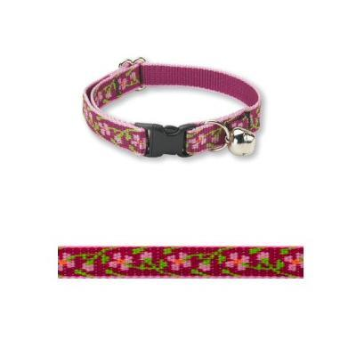 Lupine Nylon Cat Collar Cherry Blossoms w/Bell