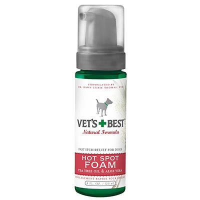 Vets Best Itch Relief Hot Spot Foam for Dogs 4-oz