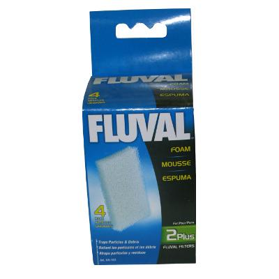 Fluval Internal Aquarium Filter 2+ Foam 4 Pack