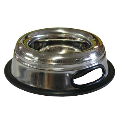 Stainless Steel Splash Free Dog Bowl 1 Pint (16oz)
