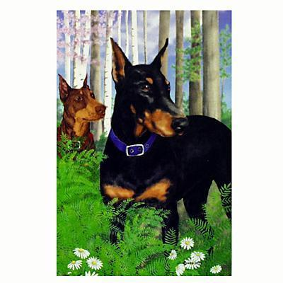 GR8 Dogs Doberman House Flag