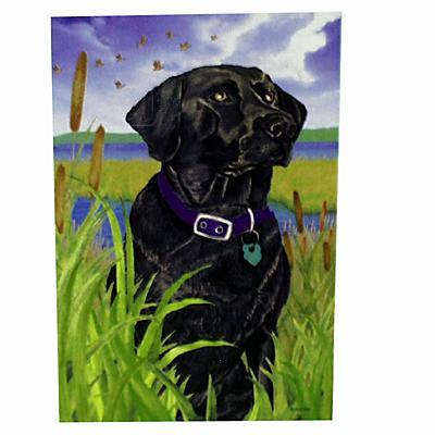 GR8 Dogs Black Labrador House Flag