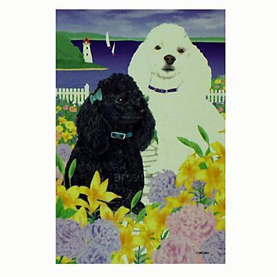 GR8 Dogs Poodle House Flag
