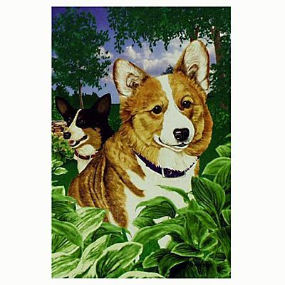 GR8 Dogs Welsh Corgi House Flag