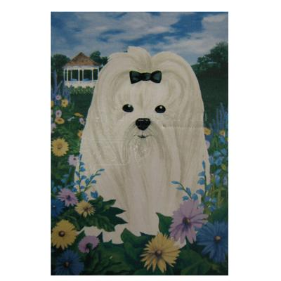 GR8 Dogs Maltese Garden Flag