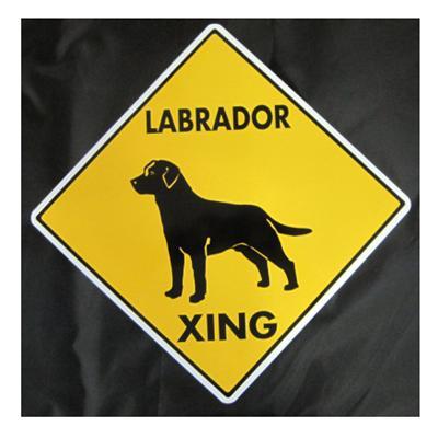 Sign Labrador Xing 12 x 12 inch Aluminum